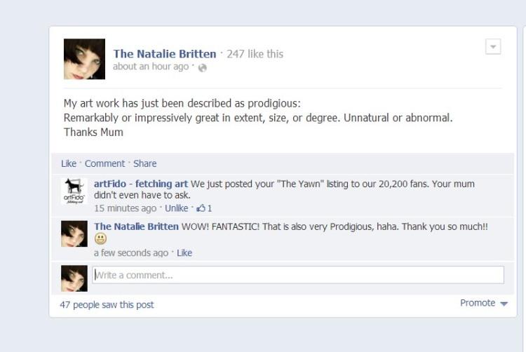Social Media conversation on Facebook!