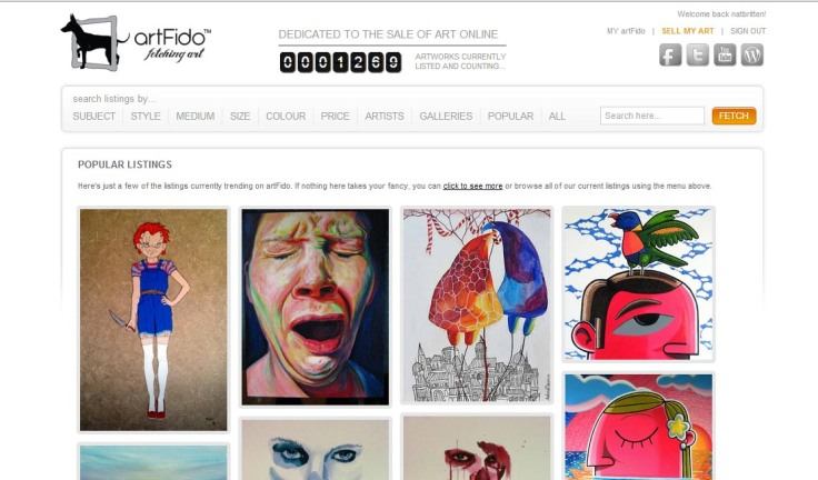 Listing on ARTFIDO-website-popular-art