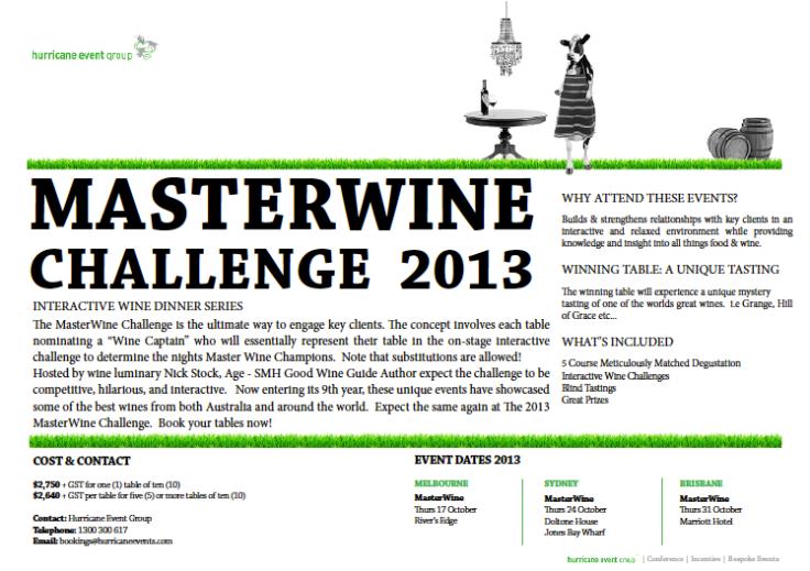 MasterWineChallenge OCt 2013