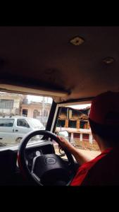 Driving into Gorkha